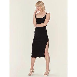 Bec + Bridge Black Bonded Crepe Dress